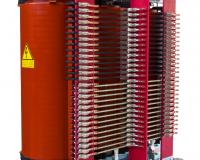 Cast resin transformer with 28 secondaries for rectifier supply