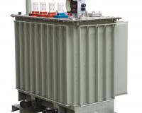 Hermetic transformer with plug-in and busbar bushings
