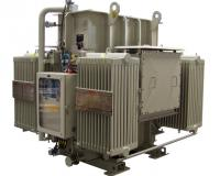 Hermetic transformer with radiators and dry air cushion