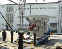 Mobile substation transformer during short-circuit test at KEMA