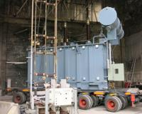 Power Transformer during Short circuit withstand test at CESI