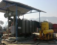 Installation of 8 MVA transformer on field